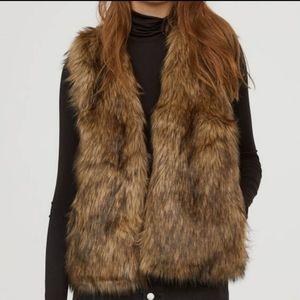 XXI Brown Faux Fur Women's Vest Coat Size S